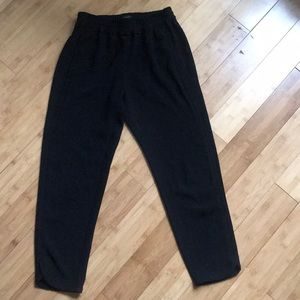 j crew high waisted black trousers